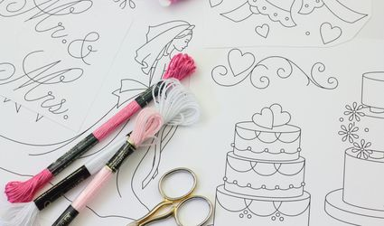 Wedding Hand Embroidery Pattern Set