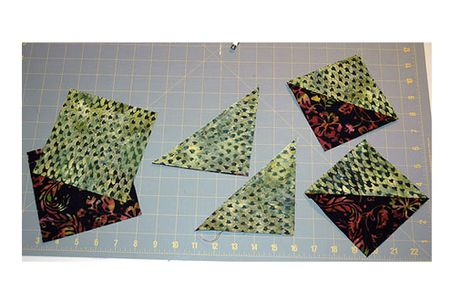 How To Make Easy Half Square Triangle Units For Quilts