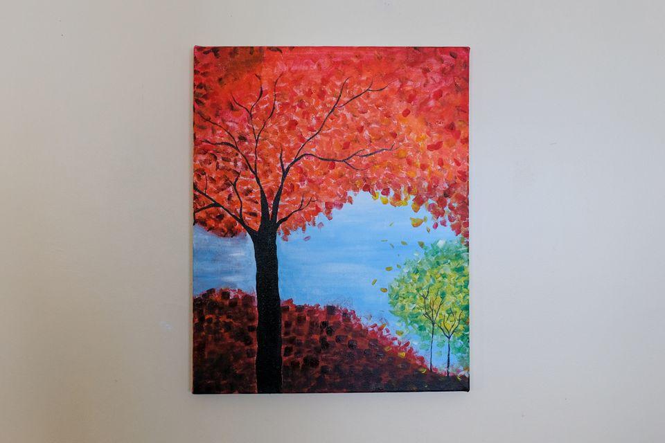 fall painting tutorial