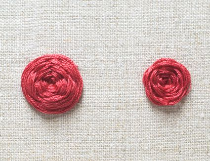 Woven Wheel Stitch Examples