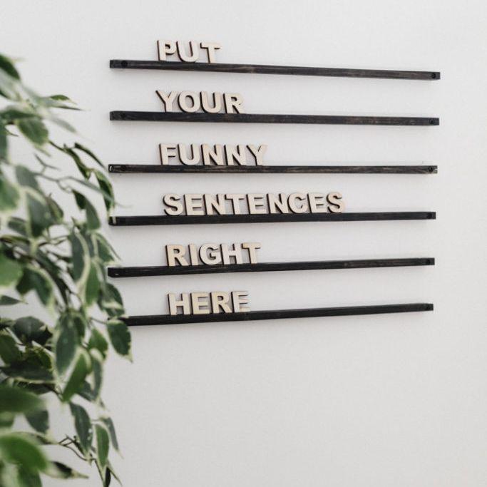 calming letterboard diy