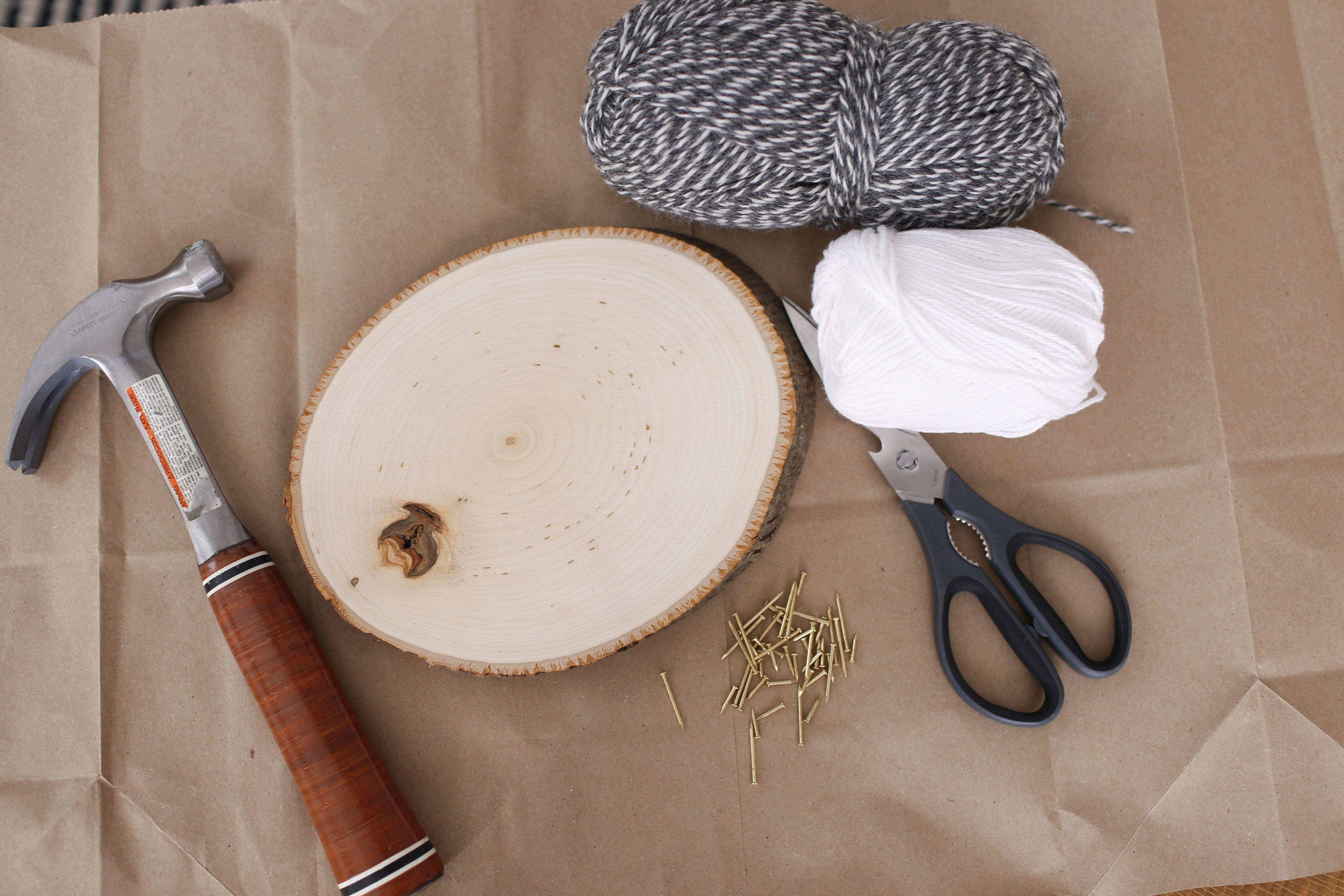Supplies for mountain string art