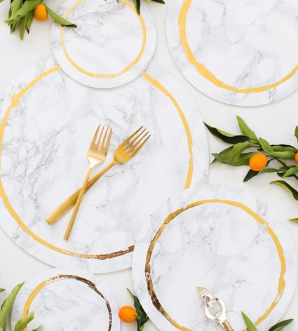 Marble placemat DIY