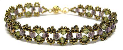 Crystal Chain bracelet beading pattern