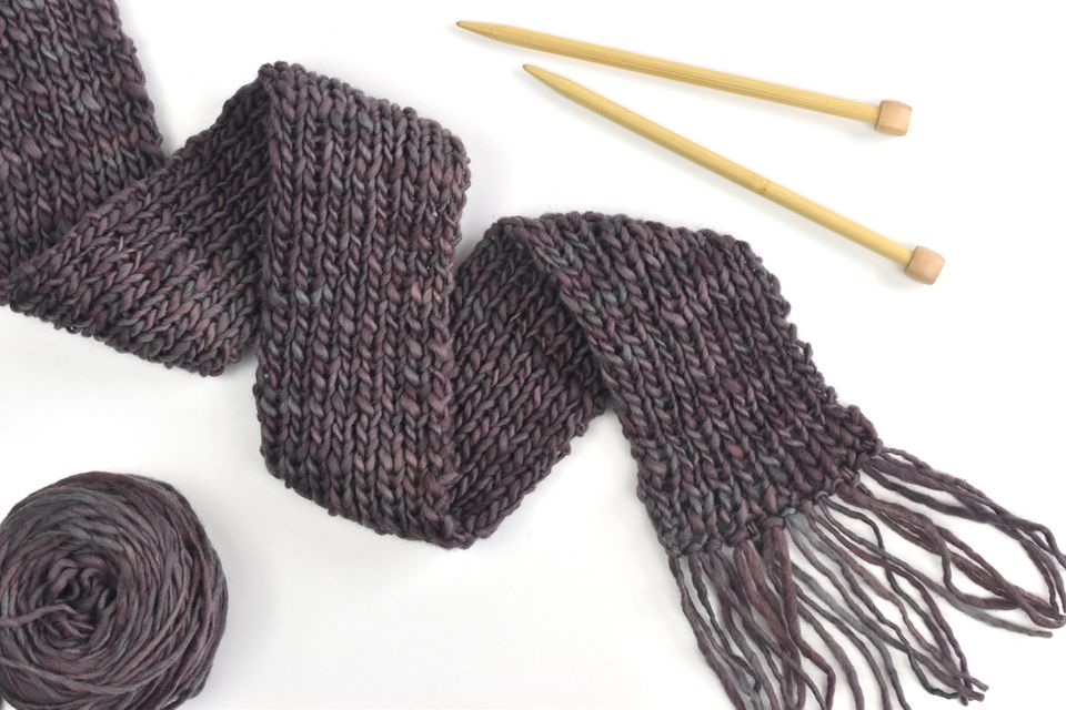 Knit a Bulky Ribbed Scarf