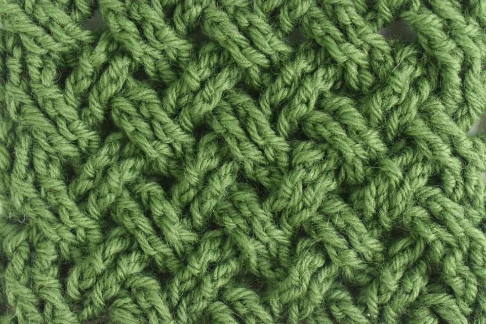Celtic Weave Crochet Stitch Sample