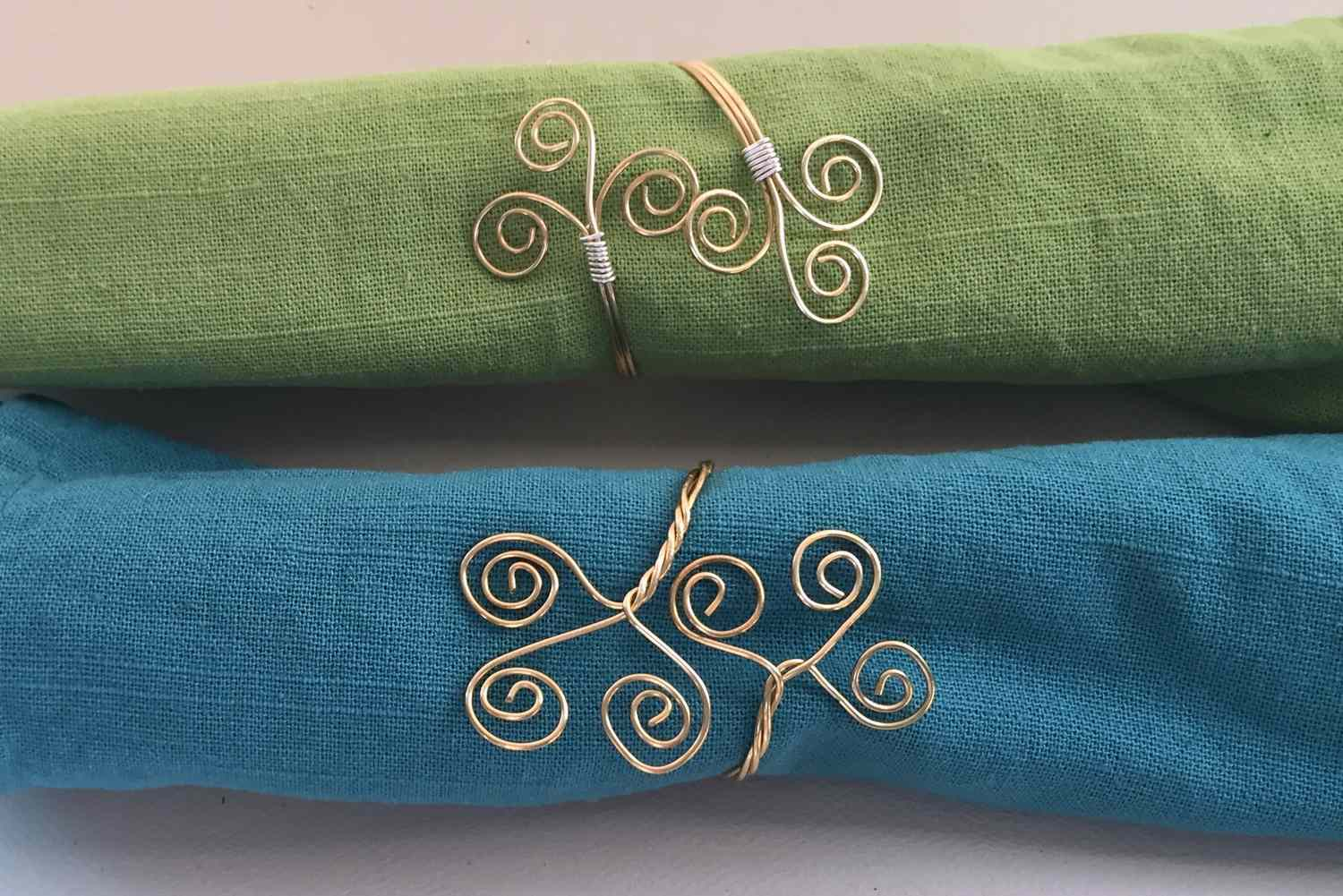 How to Make Twisted and Spiral Wire Napkin Rings
