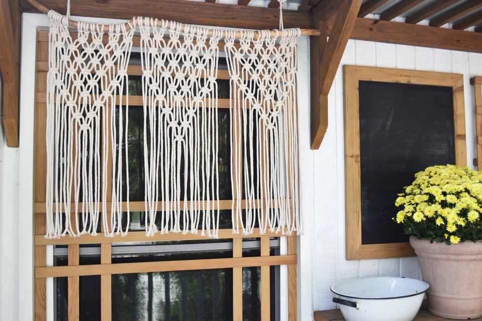 DIY macrame curtains