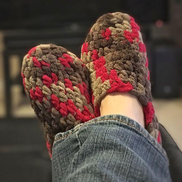 Bulky Crochet Slippers Pattern