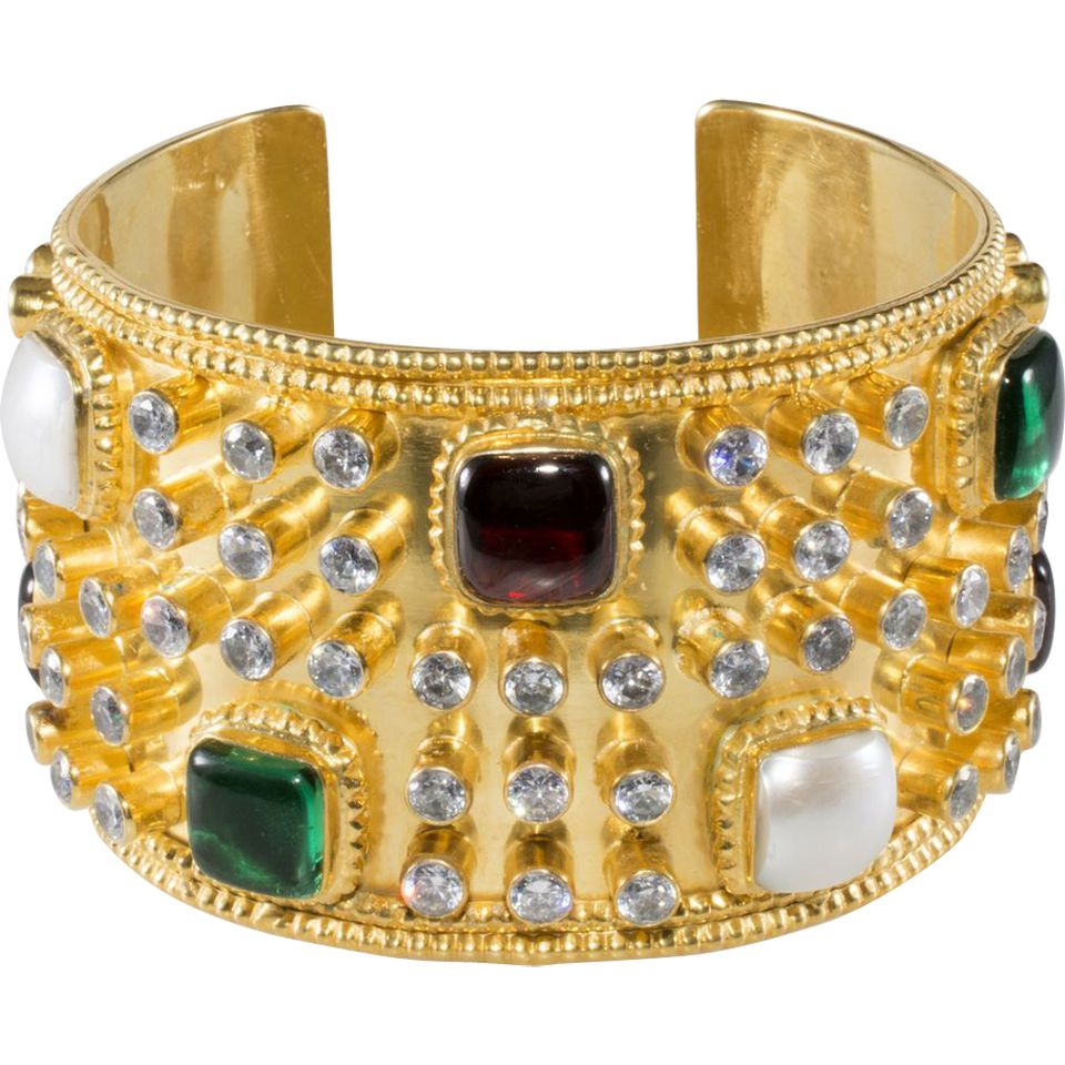 Chanel Gripoix Glass Cuff Bracelet, c. 1980s