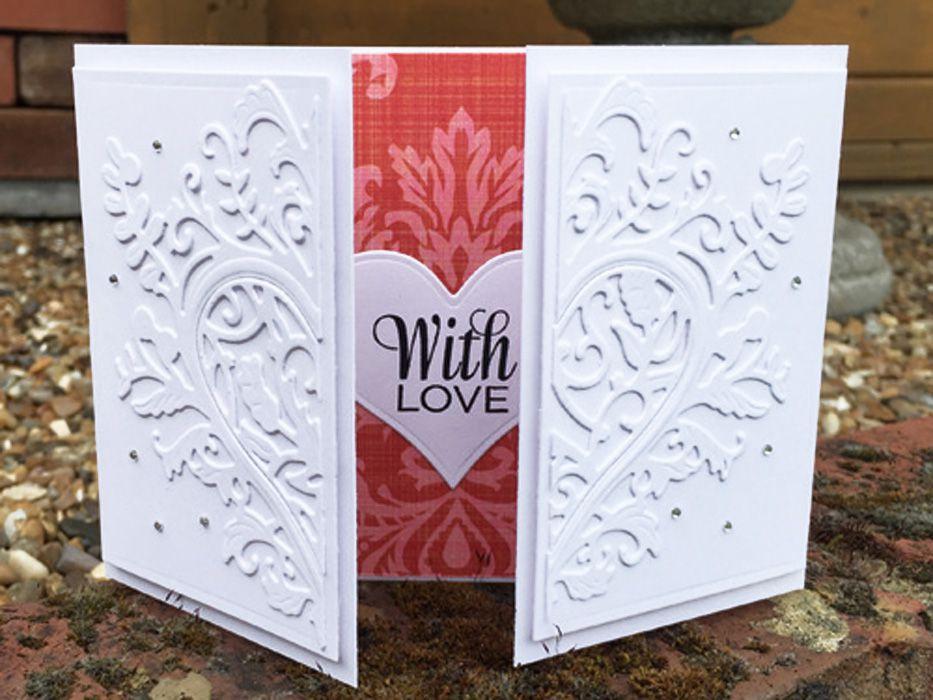white on white wedding card