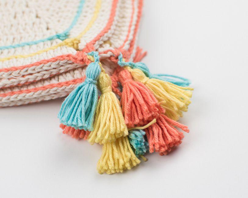 Tassel Crochet Blanket Free Pattern