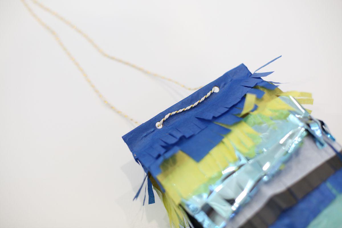paper bag pinata with string