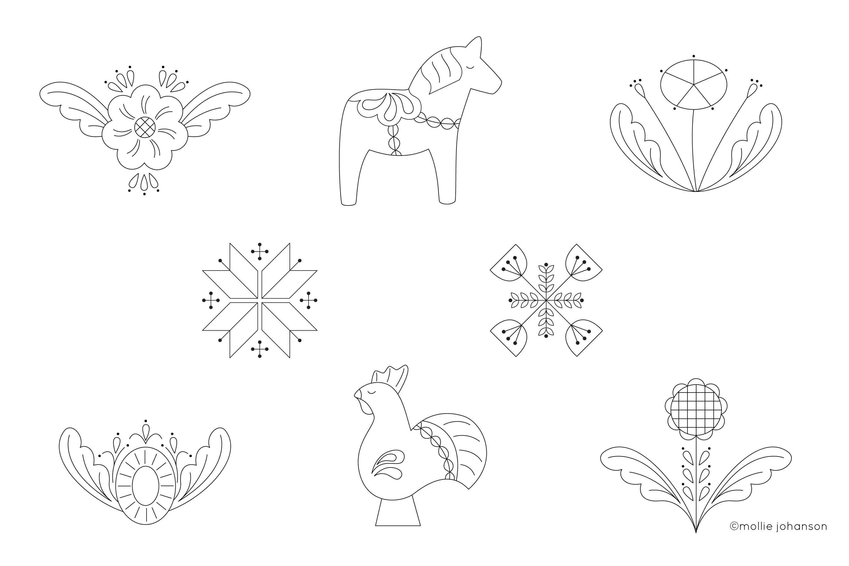 Scandinavian embroidery patterns
