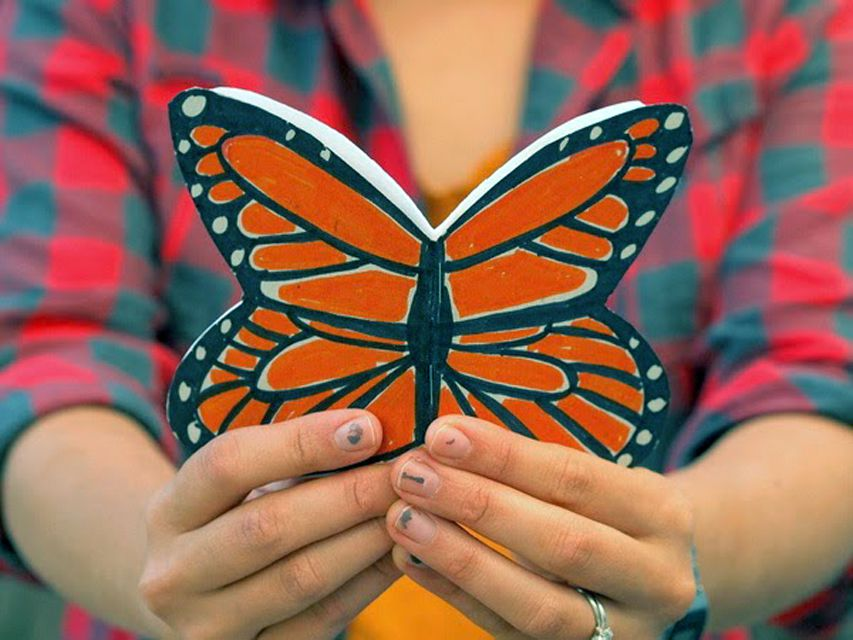 monarch butterfly paper notebook