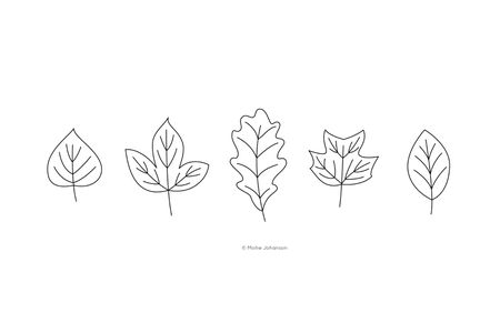 Embroidery Patterns for an Autumn Leaves Wreath