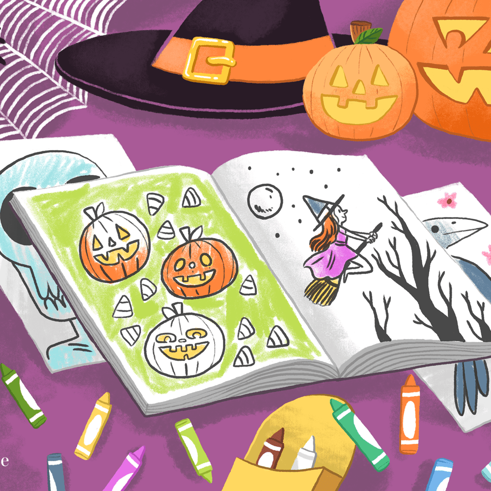 Halloween Witch Coloring Pages - Get Coloring Pages | 1000x1000