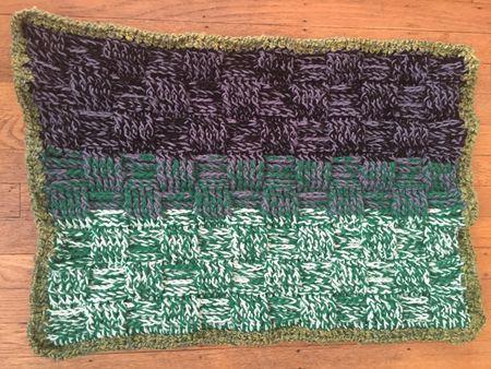 Basketweave Crochet Baby Blanket Pattern