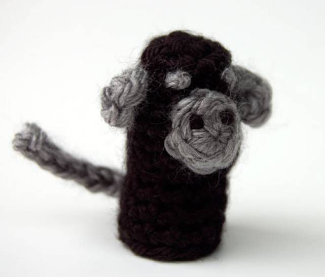 Monkey Finger Puppet Free Crochet Pattern