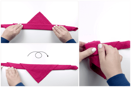 How to make a beautiful origami napkin rose how to make a rose napkin 03 paper kawaii mightylinksfo