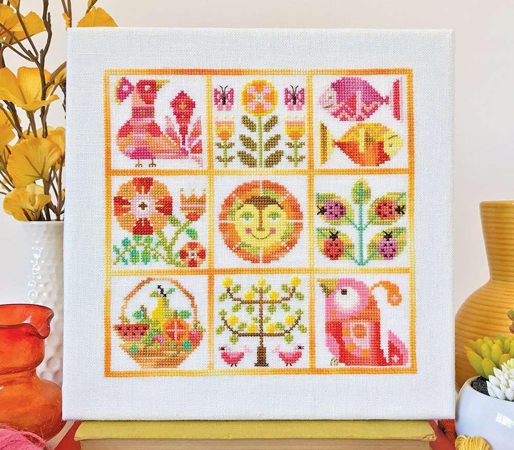 Verano Summer Sampler Cross Stitch Pattern