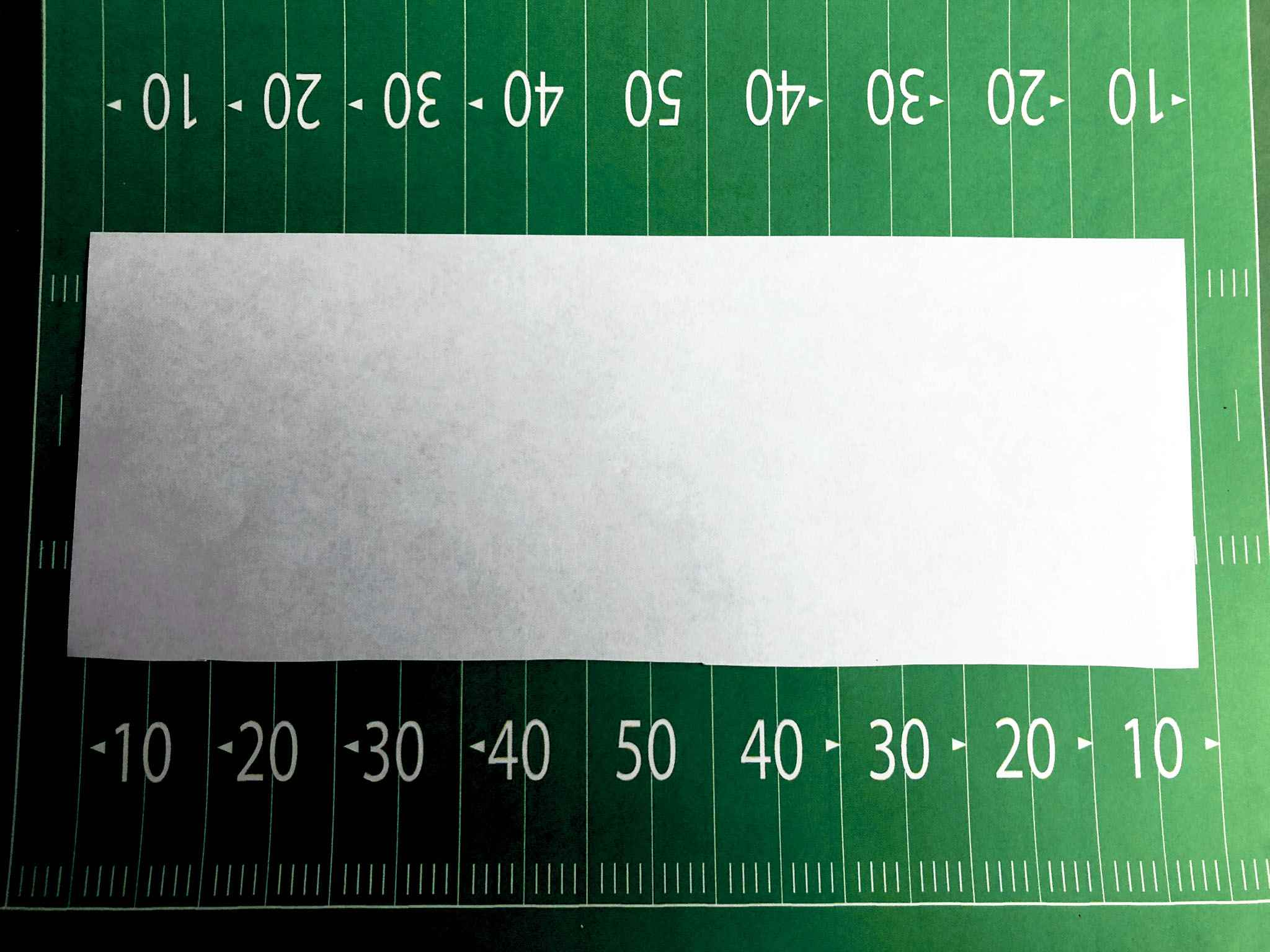 half of a sheet of paper