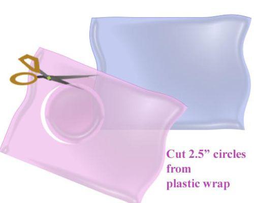 cutting plastic wrap illustration