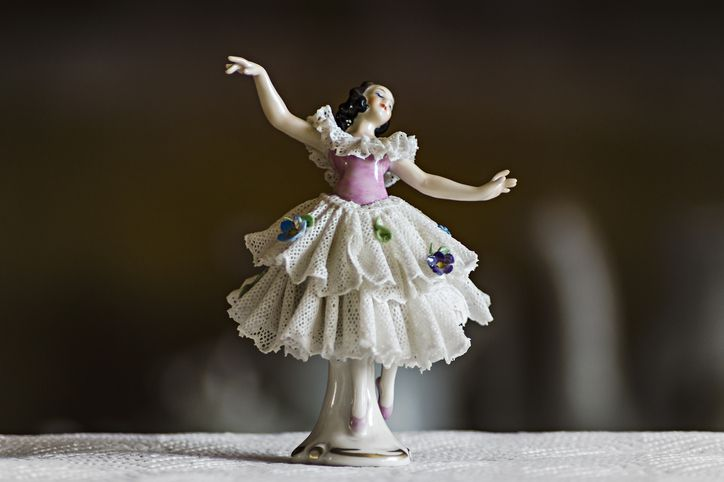 Ceramic statuette dancer