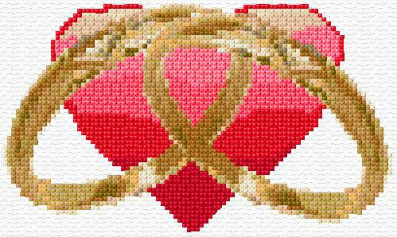 wedding rings cross stitch