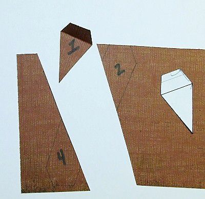 Pennant cut out of cardstock