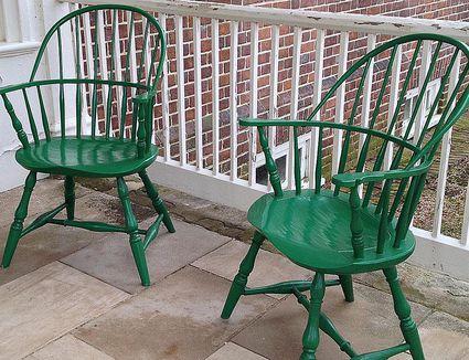 Gunston Hall painted Windsor chairs
