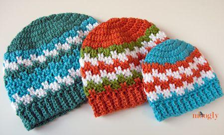 Striped Blocks Crochet Hat Free Pattern e858519093d