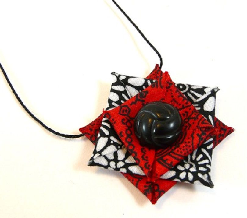 Stiffened fabric jewelry