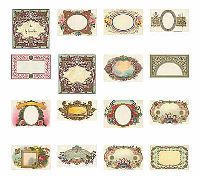8 Sets of Free Vintage Labels