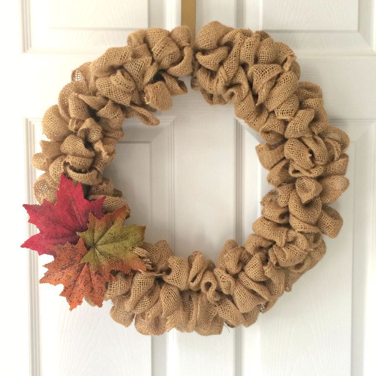 DIY Fall Wreath with Burlap