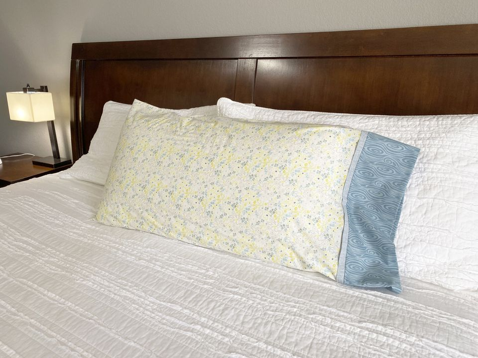 A pillowcase on a bed