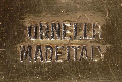 Ca. 1950s Ornella costume jewelry mark