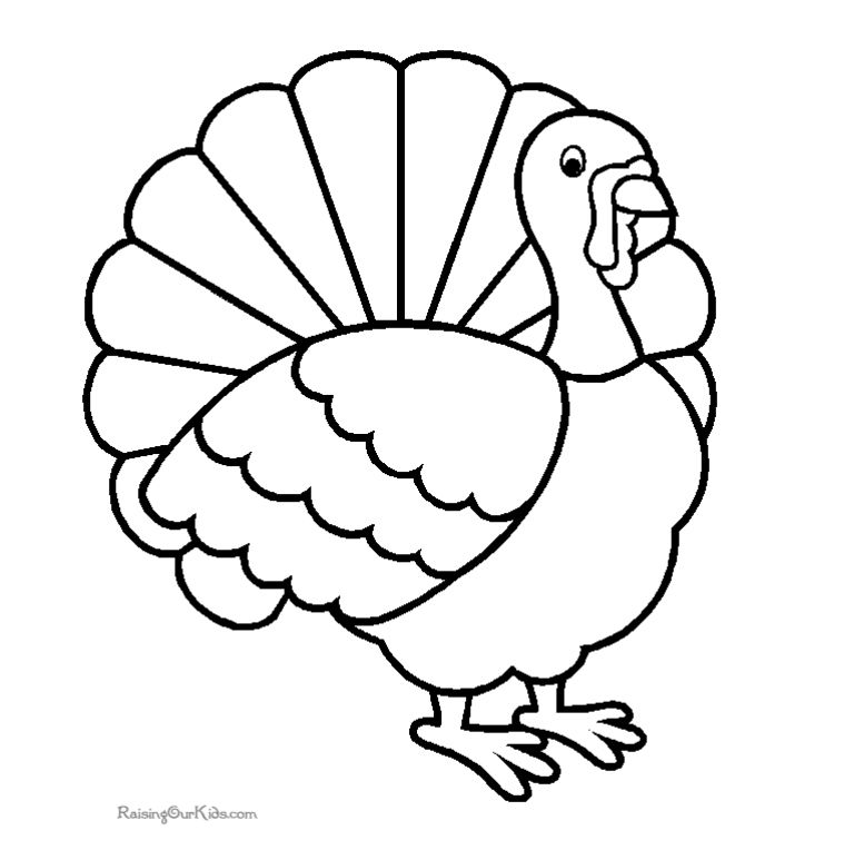More Turkey Coloring Pages A Proud