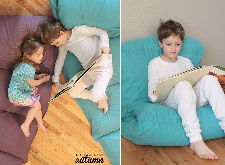 Make a Kids Pillow Bed