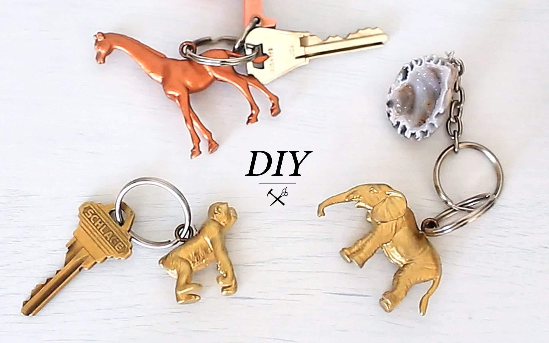 Animal Figurine Keychain