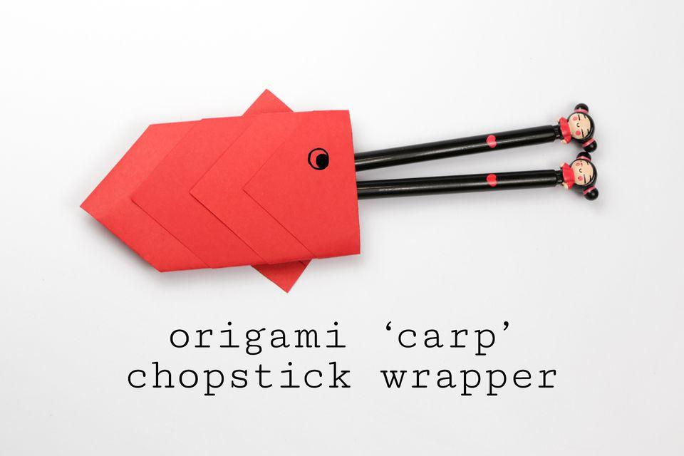 origami carp chopstick wrapper