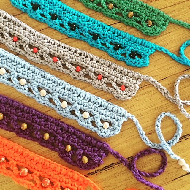 Bead Crochet Choker Necklaces