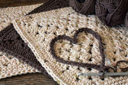 Free Puff Stitch Lace Dish Or Washcloth Pattern