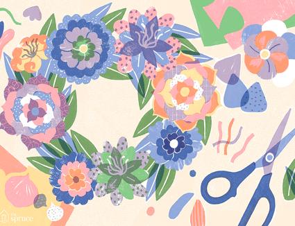 Illustration of paper flower art