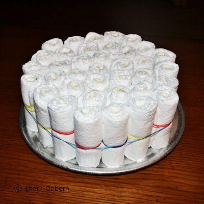 Finishing Your Diaper Cake Base