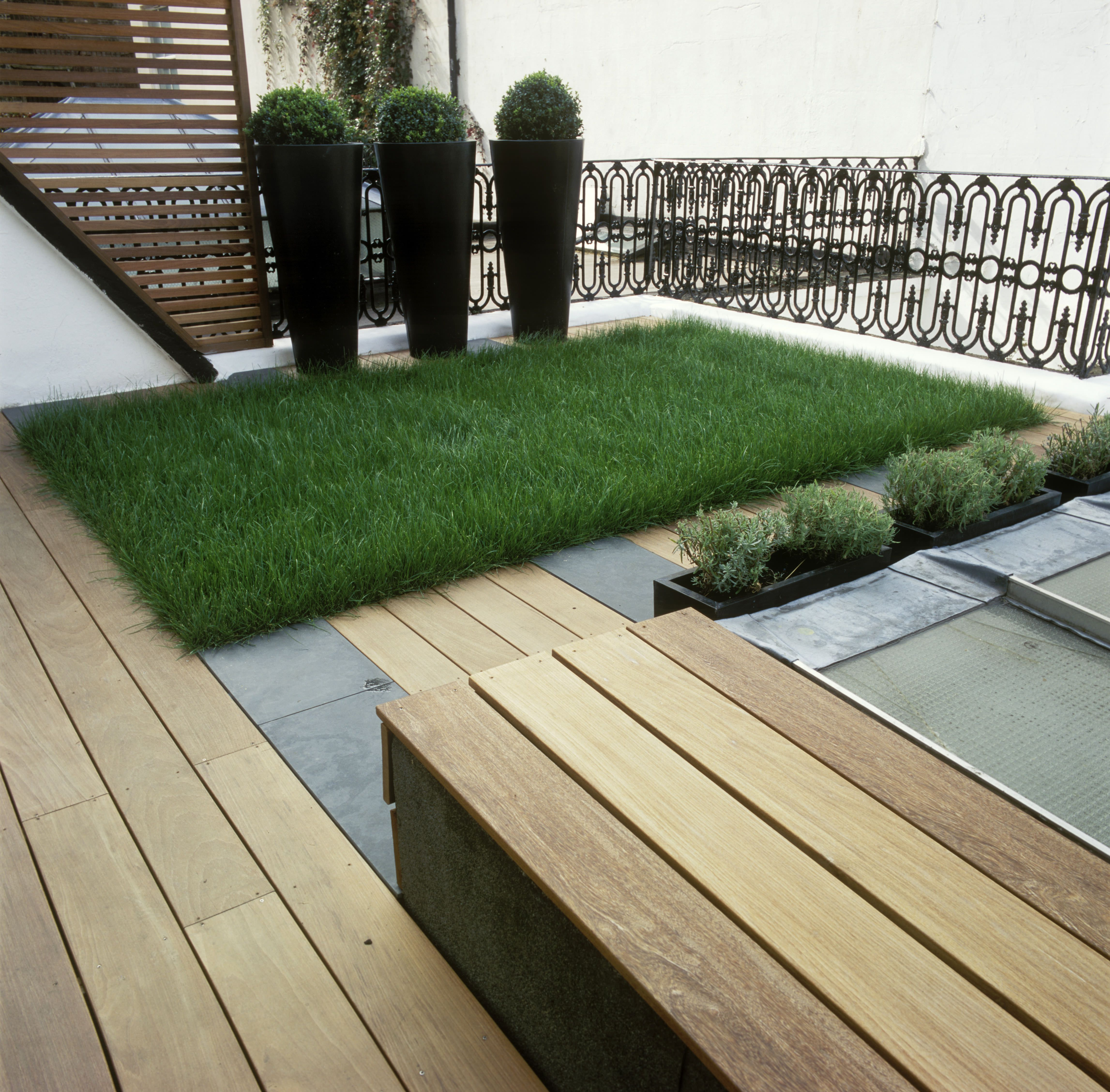 A deck made of ipe wood