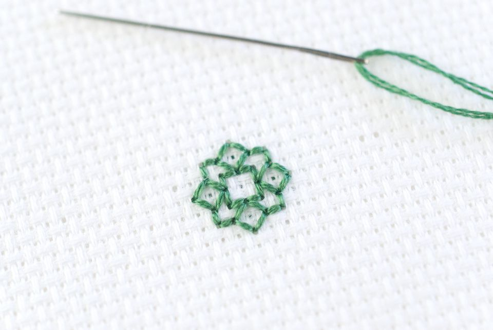 How to Back Stitch in Cross Stitch