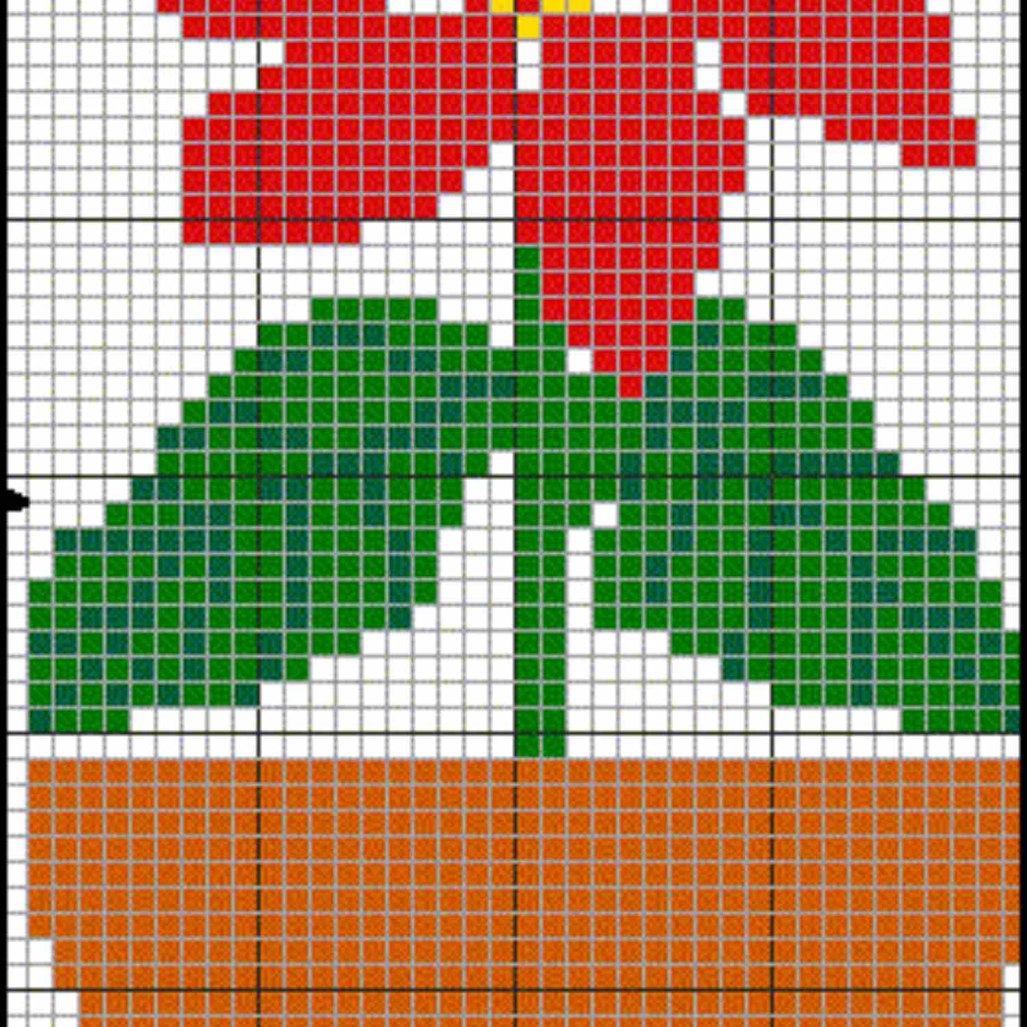 free Poinsettia pattern