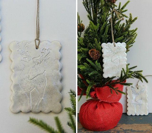 DIY Silver Reindeer Ornament