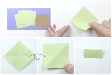 Easy Origami Christmas Tree Card Tutorial